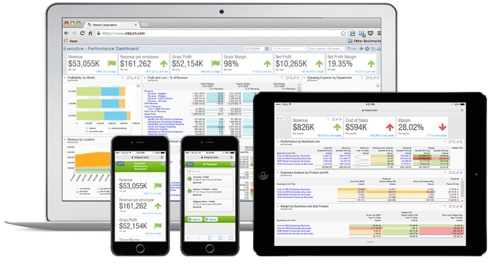 Take Sage Intacct Software with you on any device
